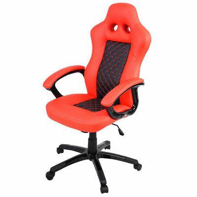 Goplus High Back Race Car Style Bucket Seat Office Desk Chai