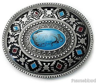 Indian Native American Turquoise Color Belt Buckle western t