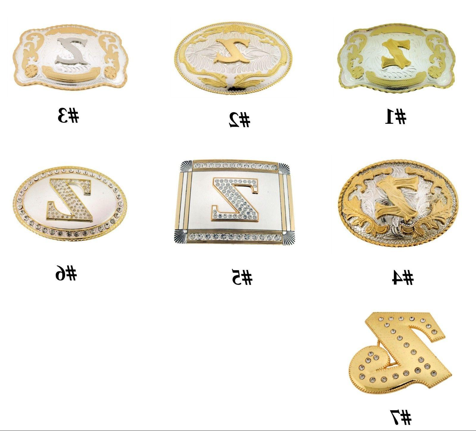 Initial Letter Z Belt Buckle Alphabet Monogram Western Cowbo
