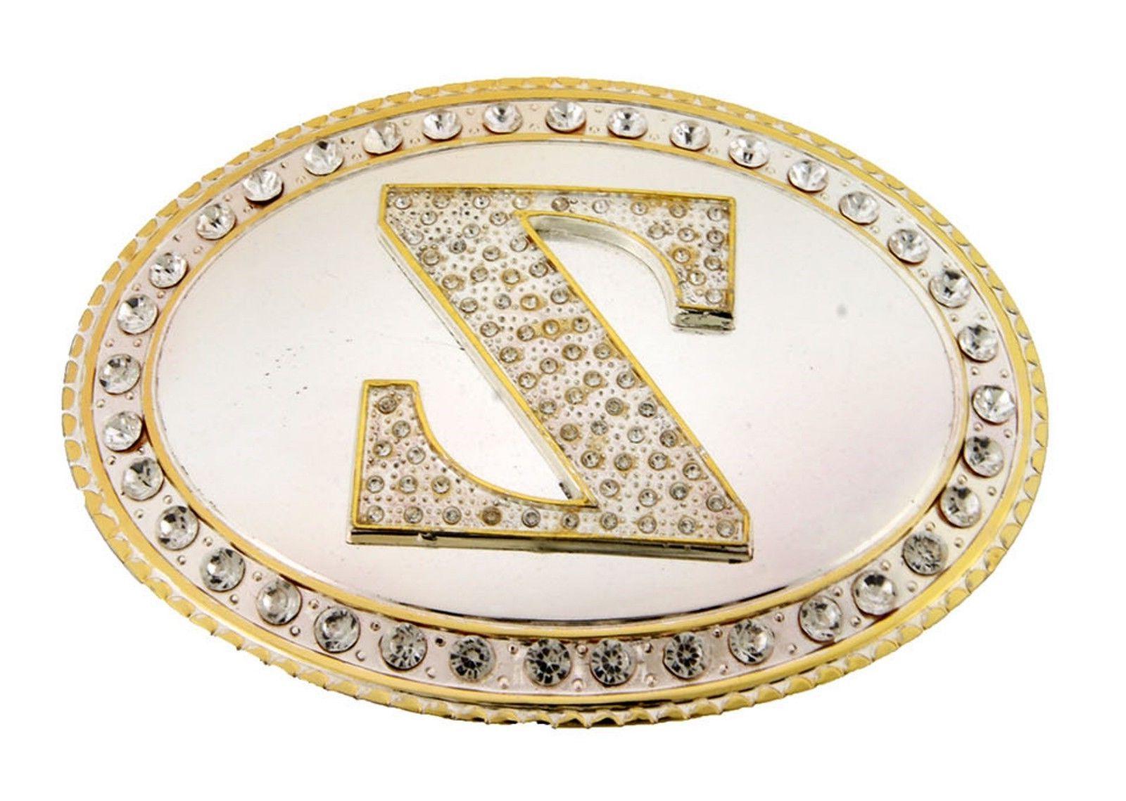 Initial Letter Belt Buckle Alphabet Cowboy Style