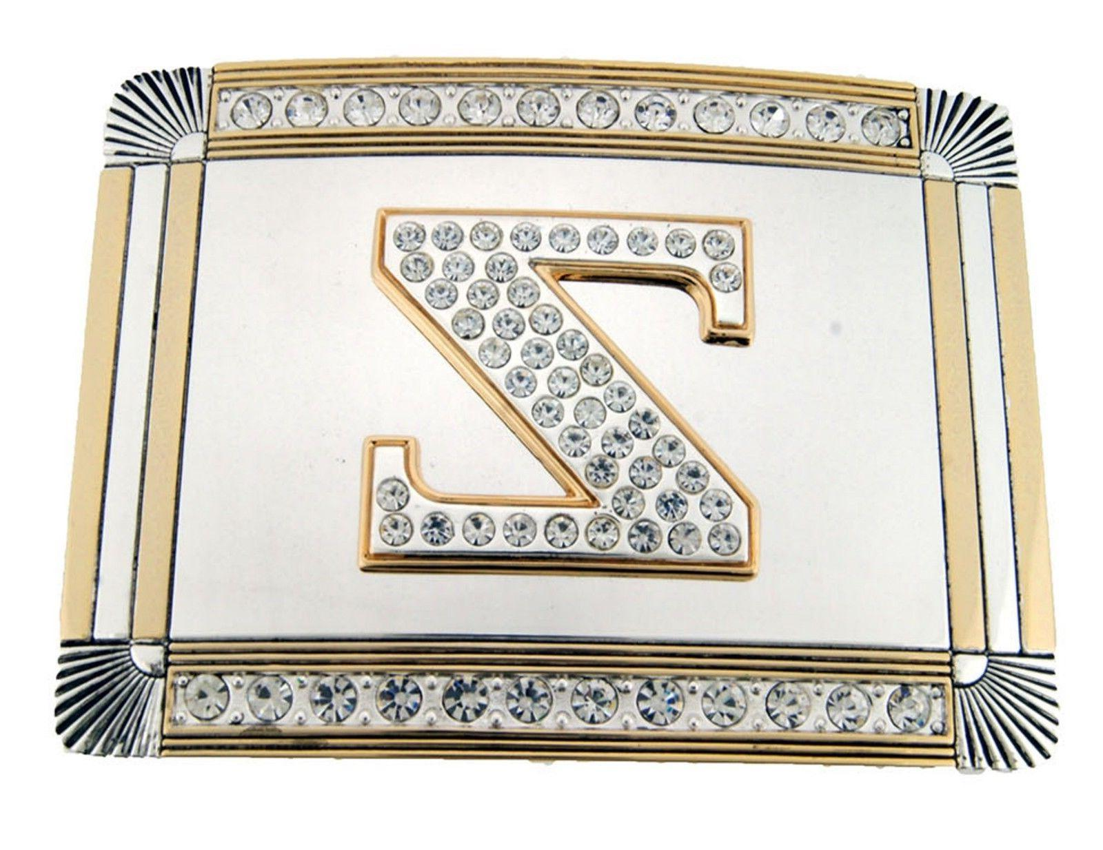 Initial Letter Buckle Western Cowboy Multiple