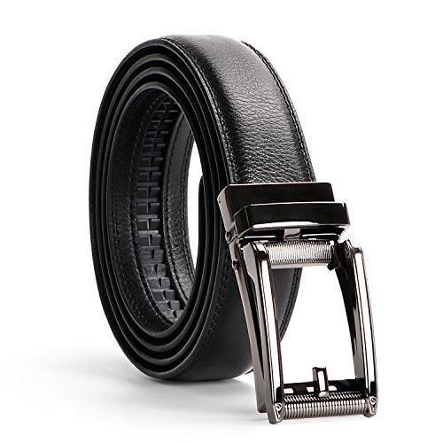 leather ratchet dress belt for men perfect