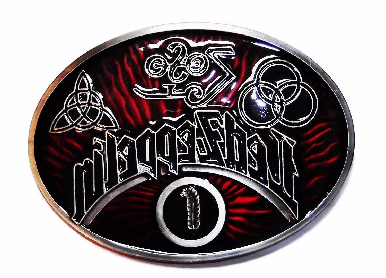 led zeppelin rock band oval logo metal