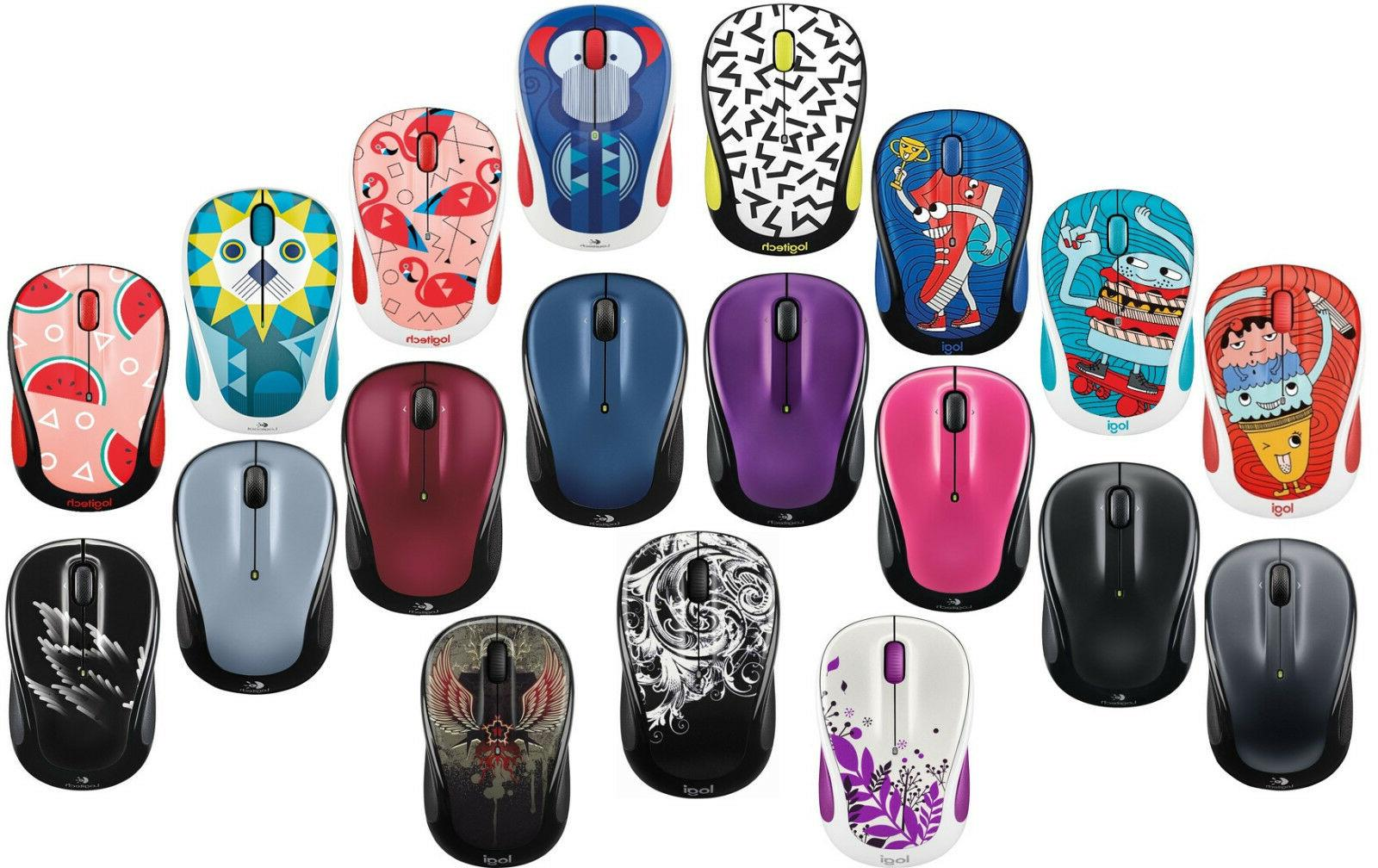 m325 wireless mouse in multi colors red