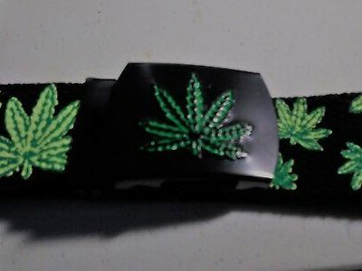 marijuana belt and matching belt buckle