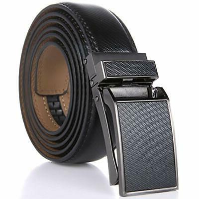 Marino Avenue Men's Genuine Leather Ratchet Dress Belt With