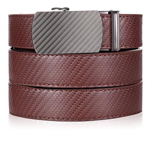 marino ratchet leather dress belt for men