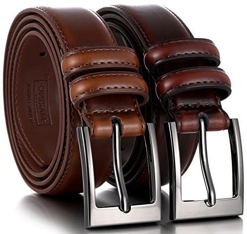 marinos men genuine leather dress belt