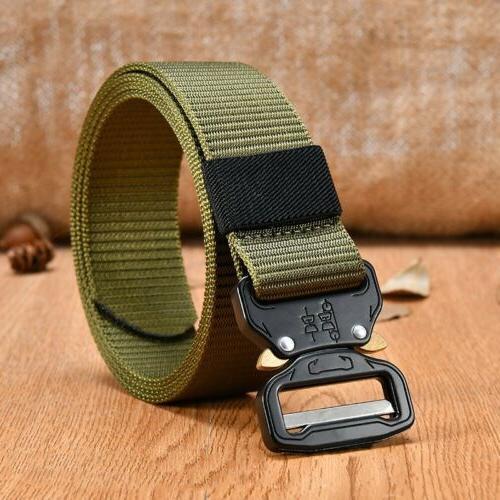Men's Adjustable Gun Belt Waistband Black/Green