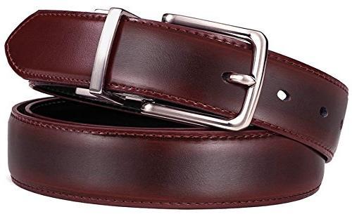 Men's Belt,Bulliant Belt for Single Prong Gift Box, Trim Fit