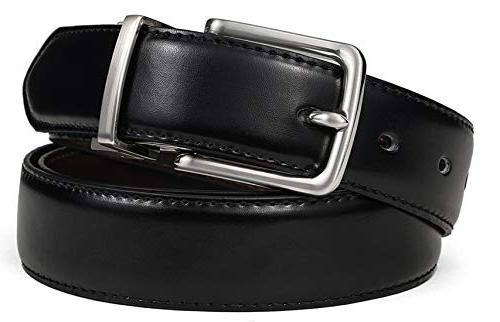 Men's Belt,Bulliant Belt With Single Prong Buckle Gift Trim to Fit