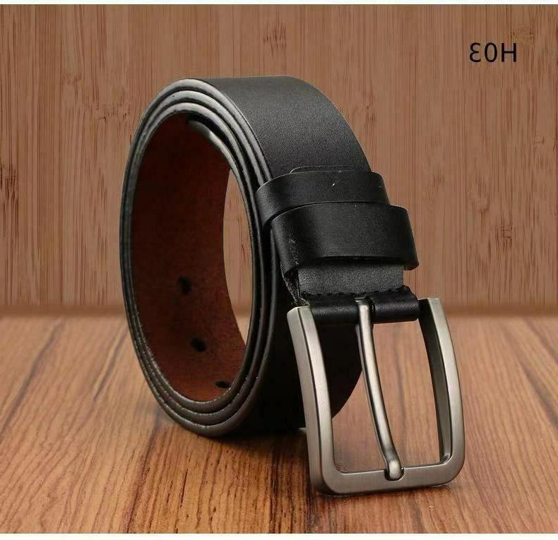 Men's Metal Buckle Handcrafted Leather Belt