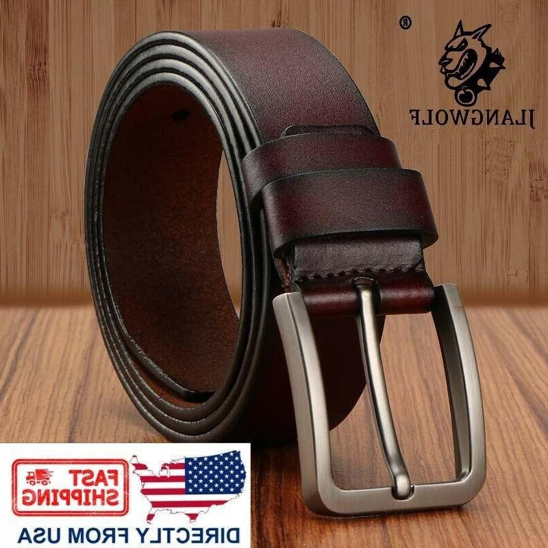 men s classic metal buckle handcrafted genuine