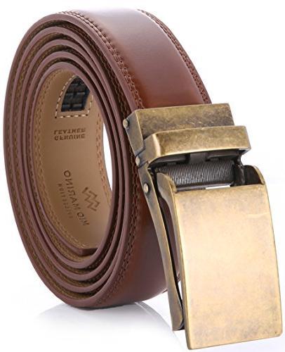 men s genuine leather ratchet dress belt