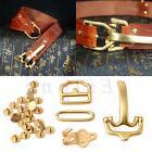 men s retro brass leather belt buckle