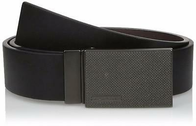 Calvin Klein Men's Reversible Plaque Buckle 40mm Genuine Lea