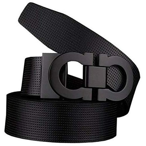 men s smooth leather buckle belt 35mm