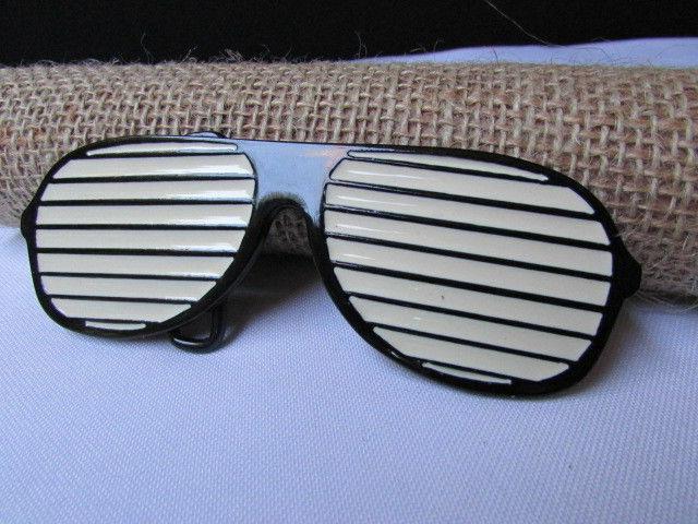men women big metal black large sunglasses