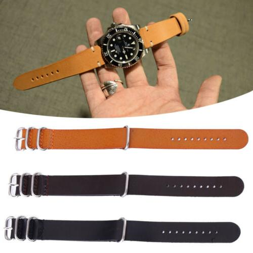 men women leather watch strap band wristwatch