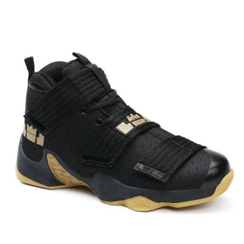 Mens Basketball Shoes Shock Absorbing High Top Outdoor Athle