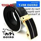 Mens Designer Leather Dress Comfort Belt Sliding Ratchet Aut
