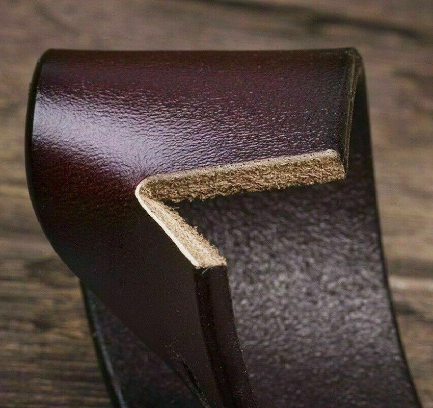 Mens Leather Belts Buckle Brown