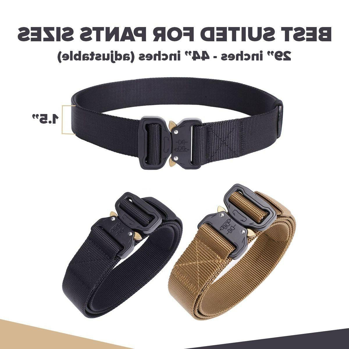 Mens Tactical Belt Buckle Adjustable USA