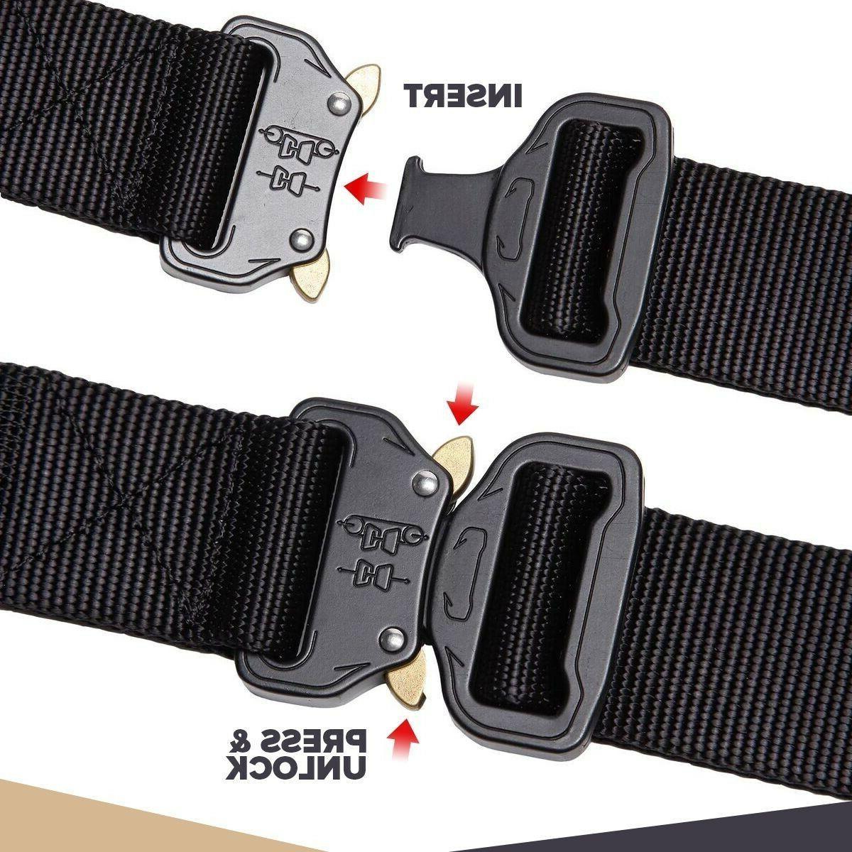 mens military tactical gun belt combat waistband