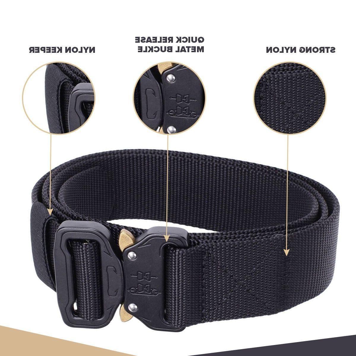 Mens Military Belt Buckle Combat Waistband Adjustable