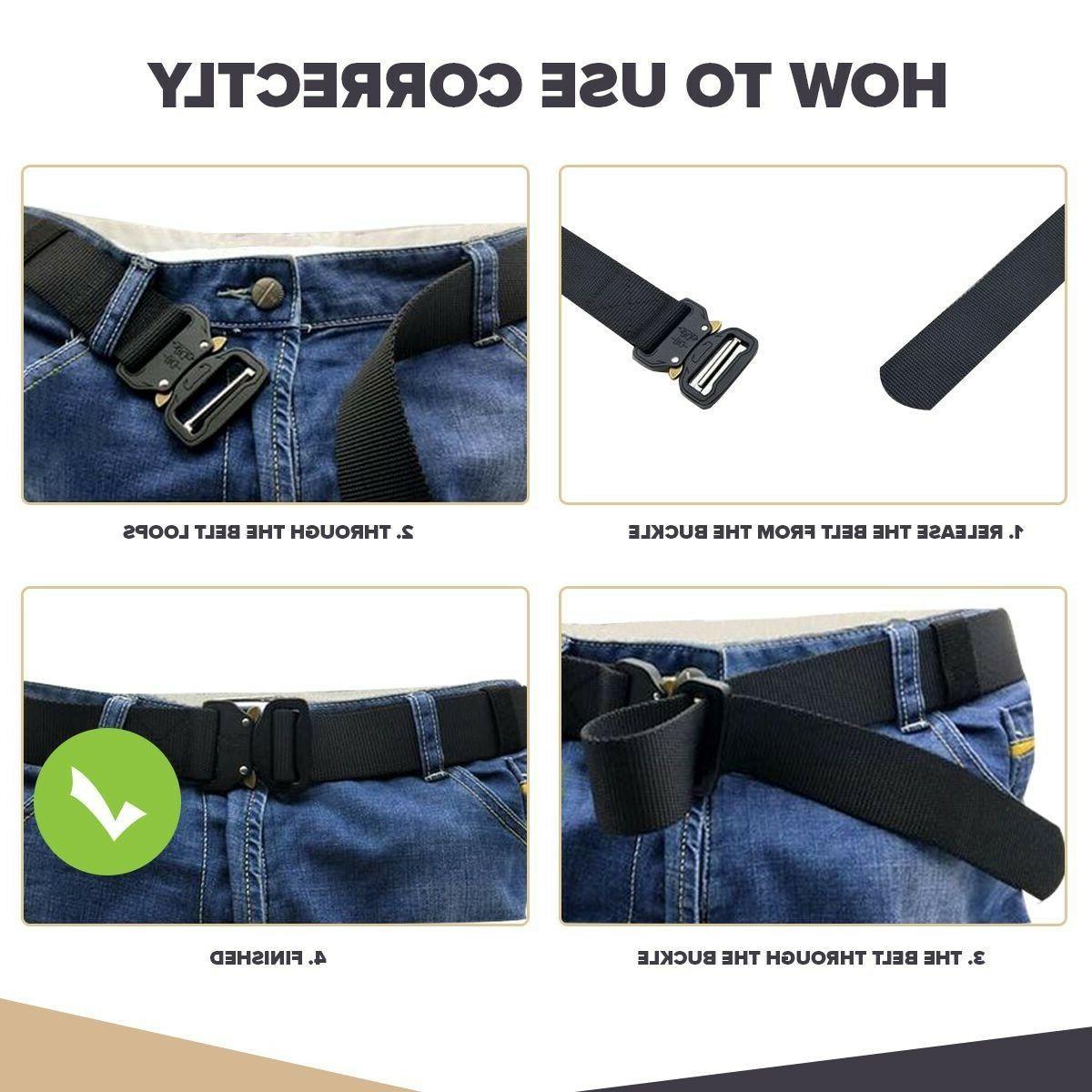 Mens Gun Belt Combat Waistband Adjustable USA