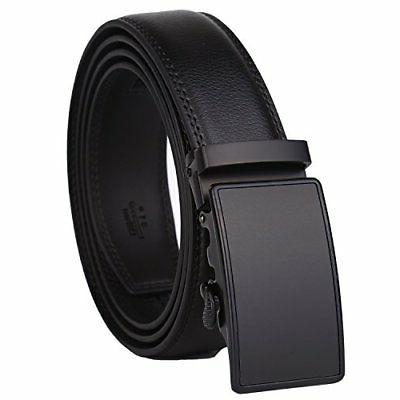 Dante Mens Real Leather Ratchet Dress Belt with Automatic Bu