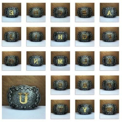 mens vintage western cowboy texas rodeo initial