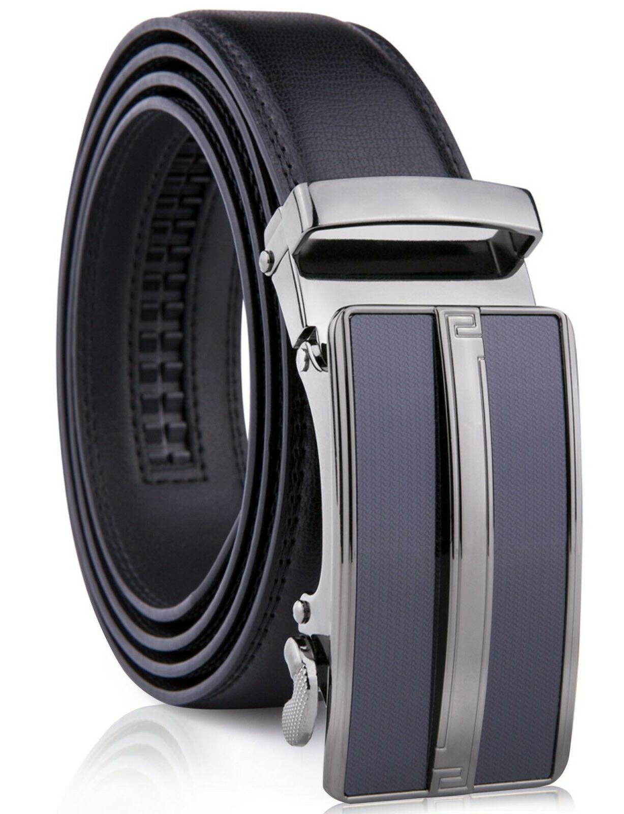 microfiber leather mens ratchet belt belts