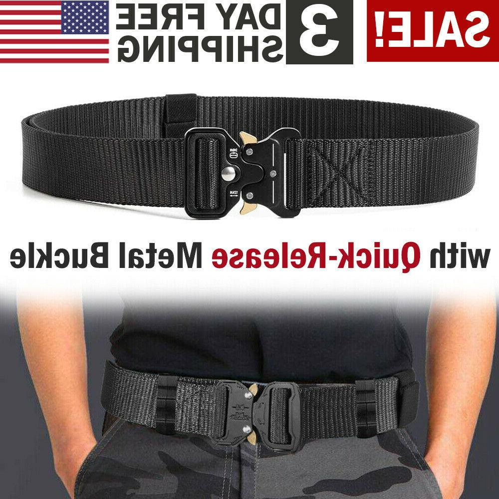 military tactical belt heavy duty security guard