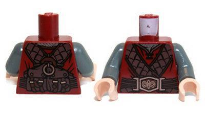 LEGO - Minifig Torso, Leather Straps & Belt Buckle Ornate Pa