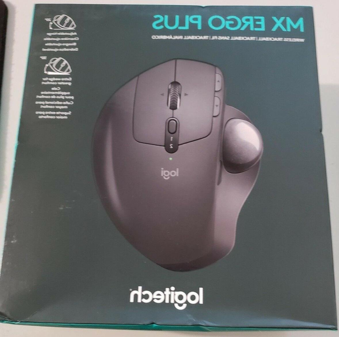 Logitech MX ERGO Plus Wireless Trackball Mouse, New in Retai