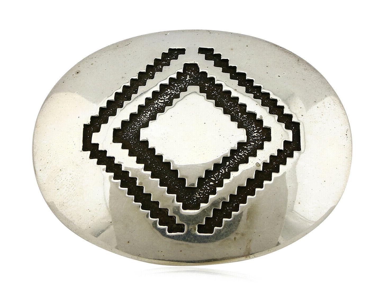 navajo belt buckle 925 silver signed artist
