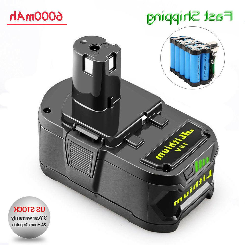 New 6.0Ah 18 VOLT P108 for RYOBI 18V ONE PLUS Lithium-Ion Hi