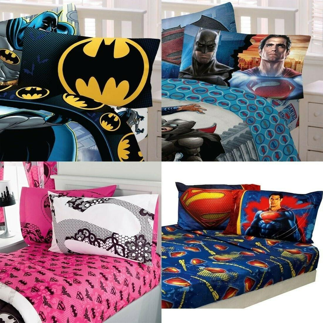 nEw DC COMICS BED SHEETS SET - Batman Justice League Bedding