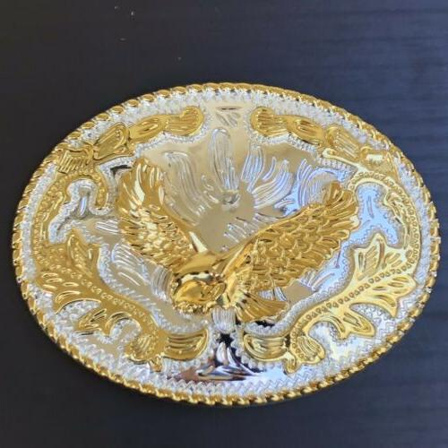 New Belt Buckle Rodeo Gold Quality Women
