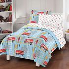 NEW Fire Truck Blue Boys Bedding Set Kids Comforter Sheets