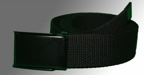 NEW FLIP TOP WEB CANVAS BLACK BUCKLE for MILITARY TACTICAL