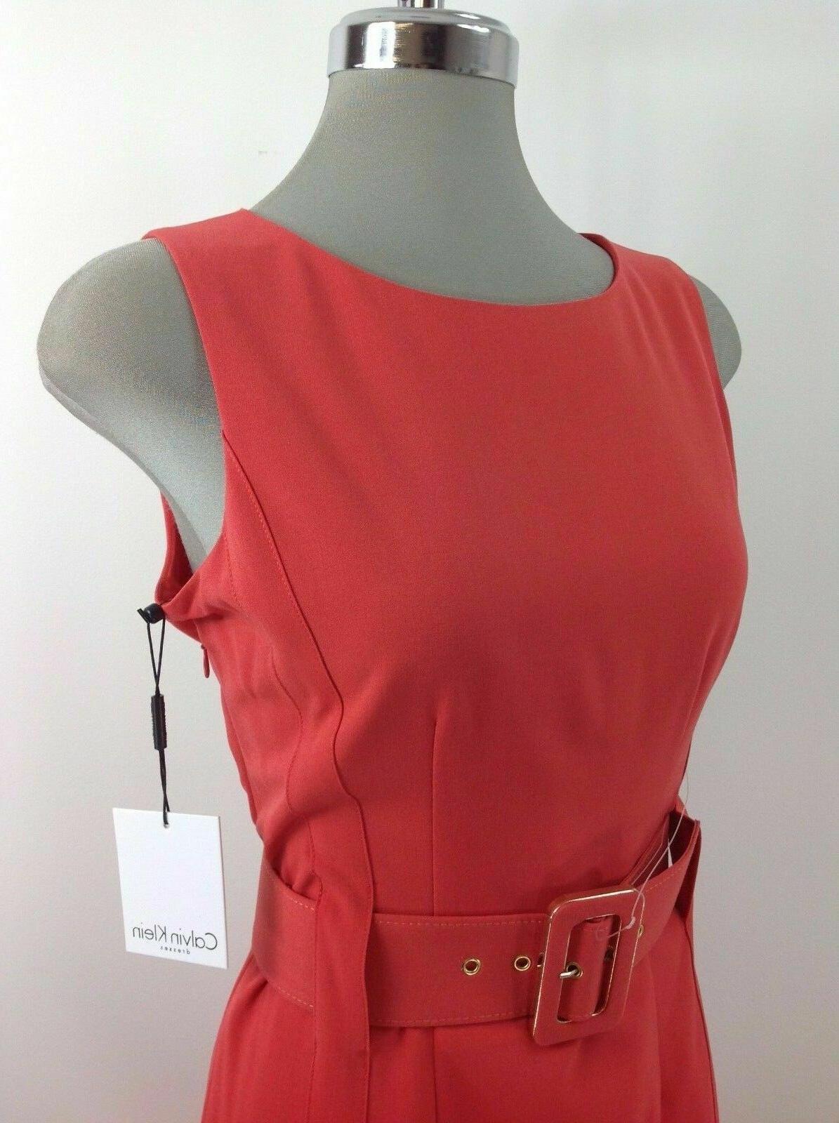 Calvin Klein NWT RED Dress Waist Belt Wear Work