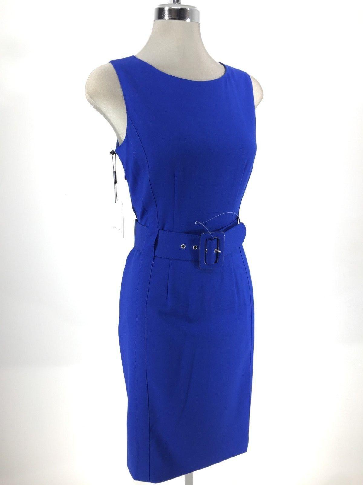 Calvin NWT Dress W Wide Belt Buckle Work Dress,8
