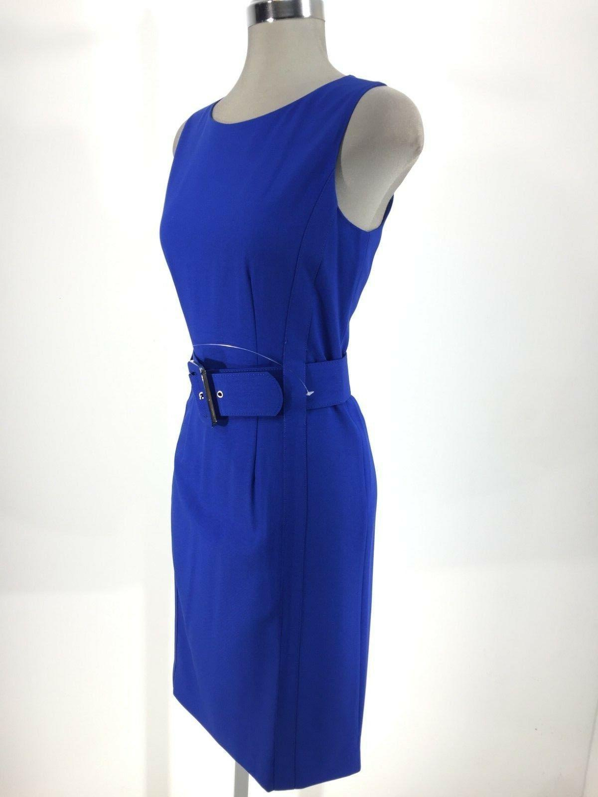 Calvin Dress W Wide Waist Belt Work