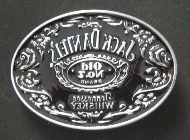 old no 7 belt buckle black