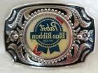 Pabst Blue Ribbon PBR SILVER BELT BUCKLE with Durable High G