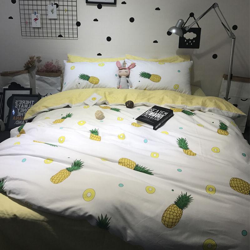 Pineapple Duvet Cover Set Bed Linen Bed Sheet Pillowcases Se