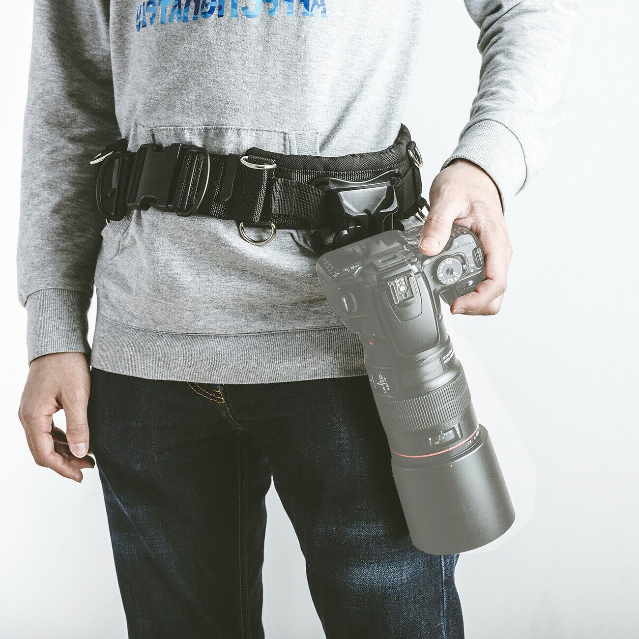 Portable Waist Strap Holder for Canon Nikon Sony DSLR Cameras