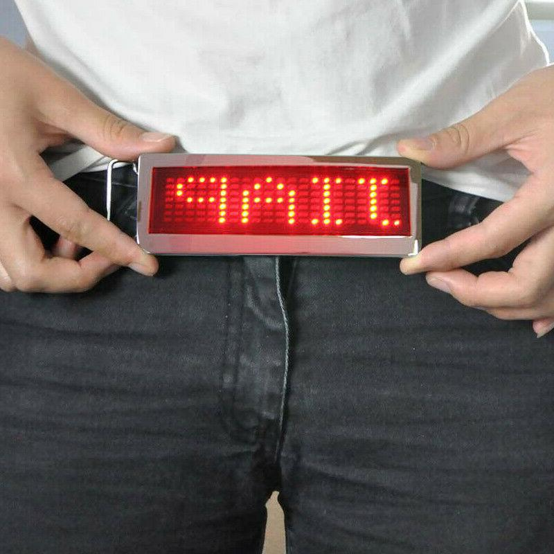Blue Green DIY Text Flash LED Scrolling Party New